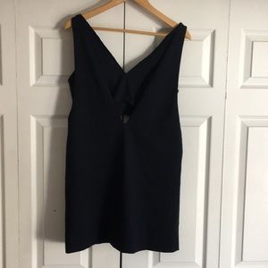 Zara Trafaluc Deep V Neck Dress with Built in Bra